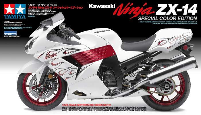 มอเตอร์ไซค์ TAMIYA 14112 Kawasaki Ninja ZX-14 SPECIAL 1/12