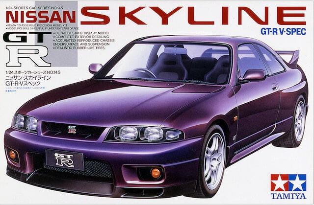 โมเดลประกอบ รถยนต์ทามิย่า Nissan Skyline GTR V Spec R33 1/24