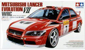 โมเดลประกอบ รถอีโว 7 Lancer Evo. VII WRC 1/24