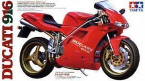 โมเดลประกอบ รถมอเตอร์ไซค์ดูคาติ Ducati 916 1/12