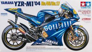 โมเดลประกอบ รถมอเตอร์ไซค์ Yamaha YZR-M1 2004 1/12