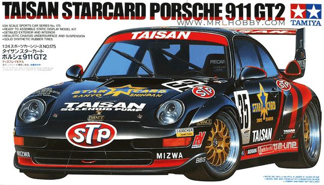 โมเดลรถพอร์ช Taisan Starcard Porsche 911 GT 1/24
