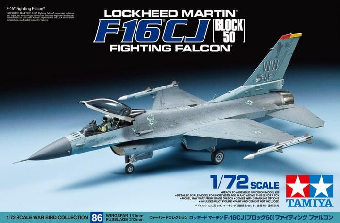โมเดลเครื่องบิน ทามิย่า F-16 CJ Fighting Falcon Block 50 1/72