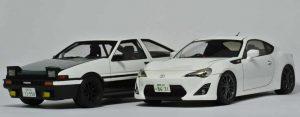 โมเดลรถอินิเชียล ดี FUJIWARA TAKUMI AE86 VOL.37 1/24