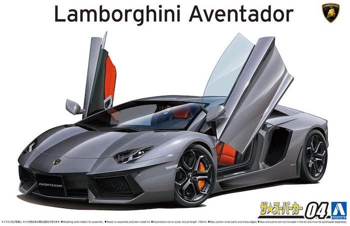 โมเดลรถยนต์แลมโบกินี่ AOSHIMA LAMBORGHINI AVENTADOR 1/24