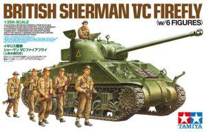 โมเดลรถถังเชอร์แมน SHERMAN VC FIREFLY 6 FIGURES 1/35