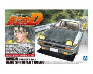 โมเดลรถยนต์ประกอบ Aoshima Fujiwara Takumi 86 Trueno Project D ขาย