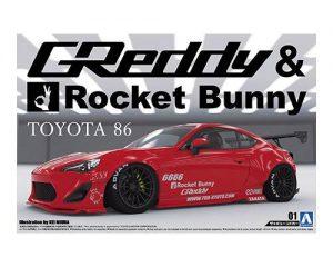 โมเดลรถยนต์ประกอบ Aoshima 86 ROCKET BUNNY ENKEI Ver ขาย