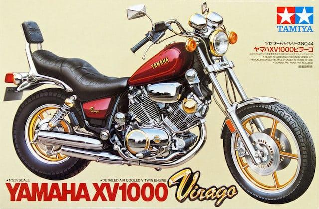 โมเดลประกอบ รถมอเตอร์ไซค์ Yamaha XV1000 Virago 1/12