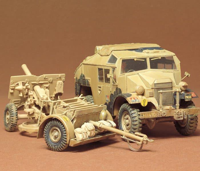 รถทหาร TAMIYA 35044 25 PDR. FIELD GUN & QUAD 1/35
