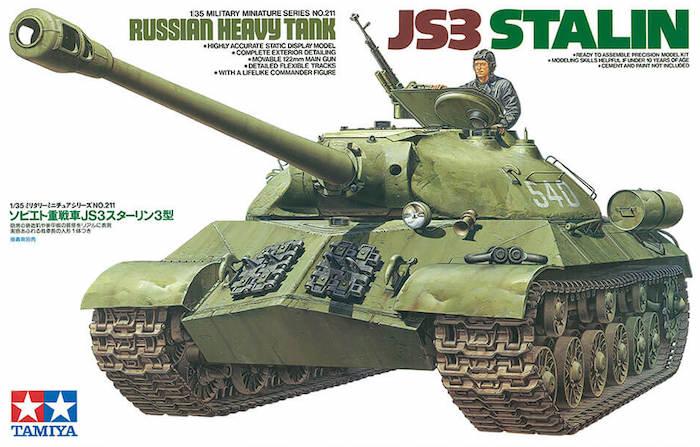 โมเดลรถถัง TAMIYA 35211 RUSSIAN HEAVY TANK JS3 STALIN 1/35