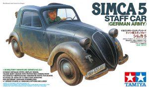 โมเดลรถซิมคาทามิย่า Simca 5 Staff Car 1/35