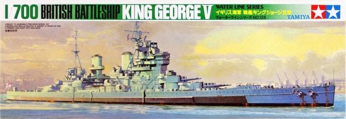 โมเดลเรือทามิย่า TAMIYA 77525 KING GEORGE V 1/700