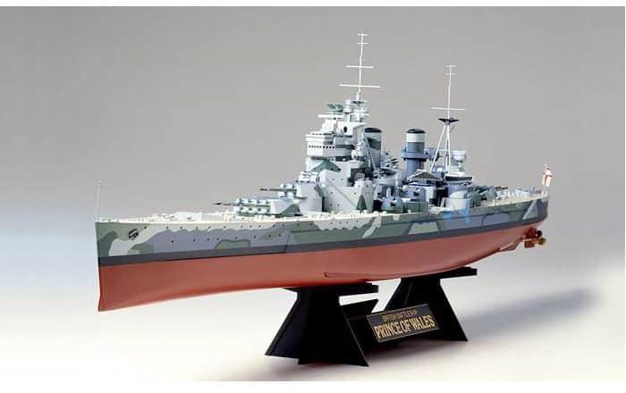 โมเดลเรือประจัญบาน British Battleship Prince Of Wales 1/350