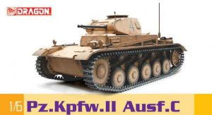 โมเดลรถถัง Dragon DR75045 Pz.Kpfw.II Ausf. C สเกล 1/6
