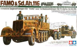 ทามิย่า German 18 Ton Heavy Half Track Famo and Tank Transporter