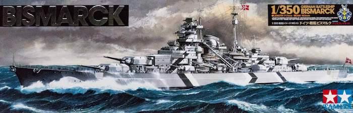 โมเดลเรือ ประจัญบานเยอรมัน Bismarck 1/350