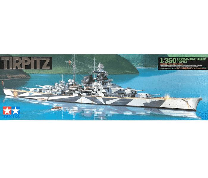 โมเดลประกอบ เรือประจัญบาน Tirpitz ของเยอรมัน 1/350