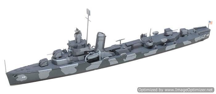 โมเดลเรือเรือพิฆาต USS Destroyer DD412 Hammann 1/700