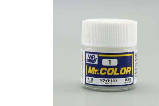 สีสูตรทินเนอร์ Mr.Color C1 WHITE