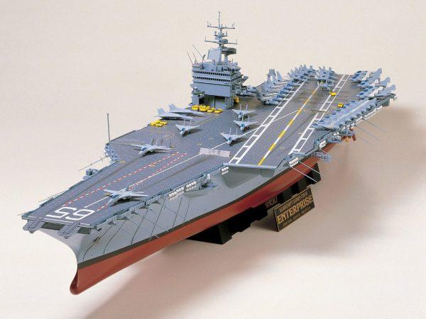 โมเดลเรือบรรทุกเครื่องบินอเมริกา U.S. Aircraft Carrier Enterprise 1/350