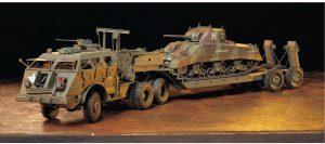 โมเดลรถขนส่งรถถังอเมริกัน U.S. 40-ton Dragon Wagon 1/35