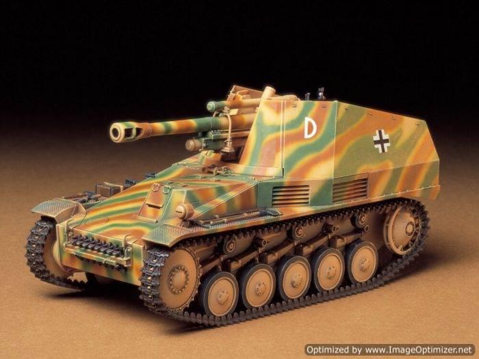โมเดลรถถังปืนใหญ่อัตตาจร German Wespe 1/35
