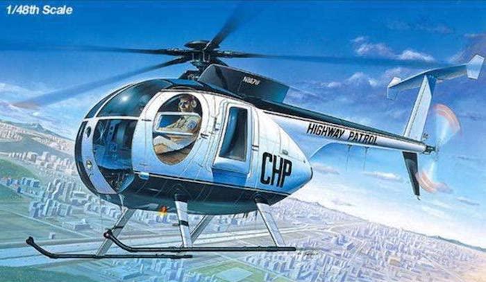 โมเดลเฮลิคอปเตอร์ 500D POLICE HELICOPTER (1/48)