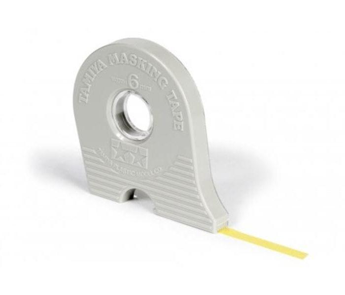 87030 เทปบังพ่นสี Masking Tape 6mm (มีตลับตัด)