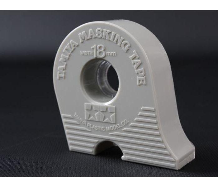 87032 เทปบังพ่นสี Masking Tape 18mm (มีตลับตัด)