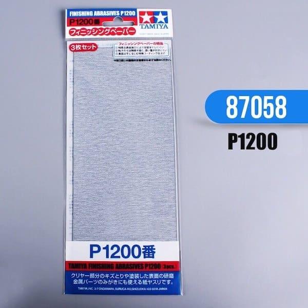กระดาษทราย ทามิย่า Finishing Abrasives P1200 3 แผ่น