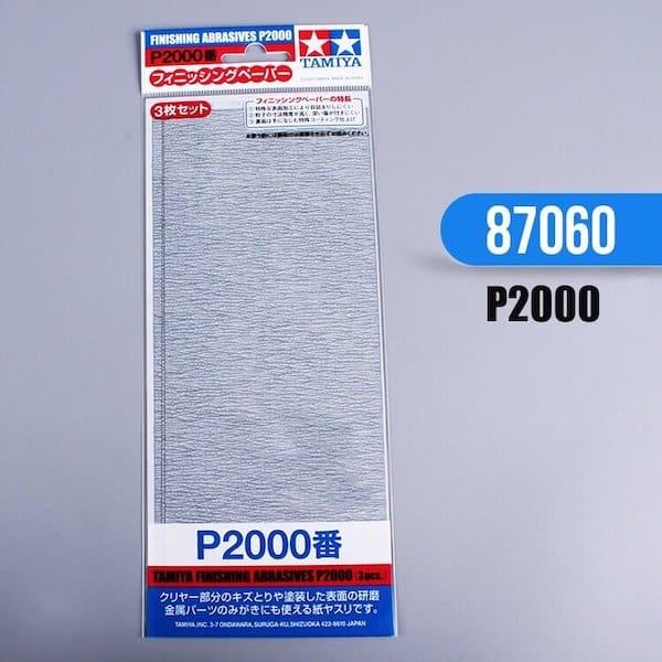 กระดาษทราย ทามิย่า Finishing Abrasives P2000 3 แผ่น