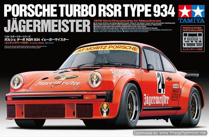 โมเดลประกอบรถยนต์ทามิย่า Porsche Turbo RSR 934 Jagermeister 1 : 24