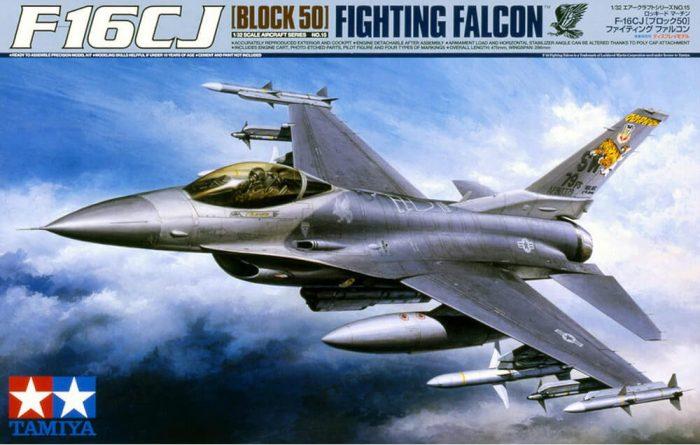 โมเดลเครื่องบินรบ ทามิย่า F-16CJ Block50 Fighting Falcon