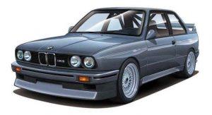 โมเดลประกอบรถยนต์ BMW M3 Type E30 1/24