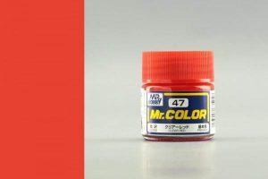 สีกันเซ่ MR COLOR C047 CLEAR RED ขาย