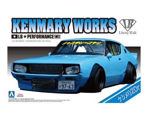 โมเดลรถยนต์แต่ง Aoshima LB WORKS KEN MARY 2Dr 2014Ver. 1/24