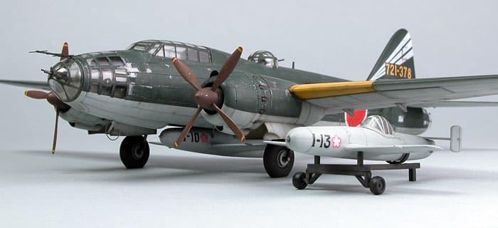 เครื่องบินฮาเซกาว่า HASEGAWA MITSUBISHI G4M2F TYPE 1 BOMBER 1/72
