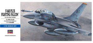 โมเดลประกอบเครื่องบิน Hasegawa F-16B PLUS FALCON 1 : 72 ขาย