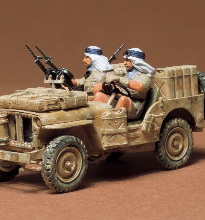 โมเดลจิ๊บทะเลทราย British Special Air Service Jeep 1/35