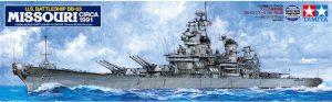 โมเดลเรือประจัญบานมิสซูรี่ U.S. Battleship BB-63 Missouri 1991 1/350
