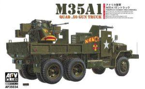 ขายโมเดล AFV 35034 M35A1 QUAD 50 GUN TRUCK