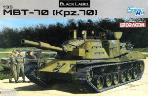 โมเดลรถถังหลัก Dragon DR3550 MBT 70 (KPz 70) 1/35