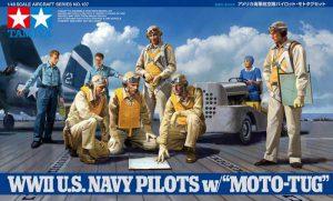 ทามิย่านักบิน 61107 WWII US Navy Pilots with Moto Tug