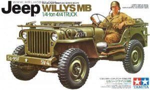 ขาย โมเดลประกอบรถจิ๊บทามิย่า Jeep Willys MB 1 : 35 ราคาถูก