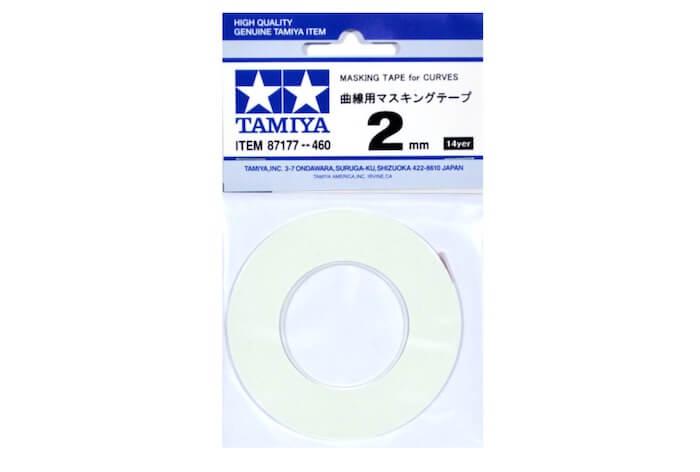 เทปบังพ่นสี เส้นโค้ง Masking Tape for Curves 2mm