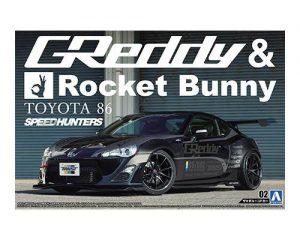 โมเดลรถยนต์ประกอบ Aoshima 86 ROCKET BUNNY VOLK RACING Ver ขาย