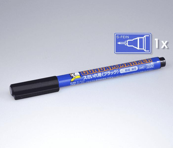 ปากกากันดั้มมาร์คเกอร์ GM01 GUNDAM MARKER LINER ดำ