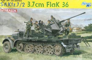 โมเดลรถถัง Dragon DR6541 Sd.Kfz.7/2 3.7cm Flak 36 1/35