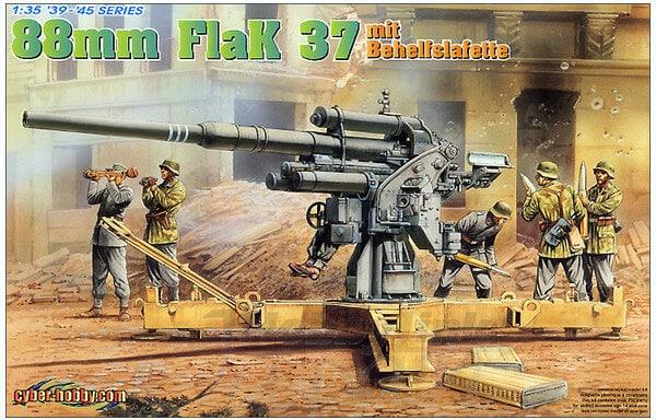 โมเดล Dragon DR6523 8.8 cm FLAK 37 mit BEHELFSLAFETTE 1/35